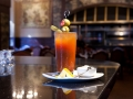 Food and drinks at the Rib Room; Omni Royal Orleans Hotel New Orleans