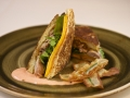 Duck Confit and Red Dragon Cheddar Cheese Tea Sandwich