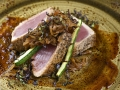 Sweet and Sour Glazed Pepper Seared Yellowfin Tuna