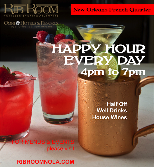 Happy Hour At The Rib Room Rib Room New Orleans Restaurant